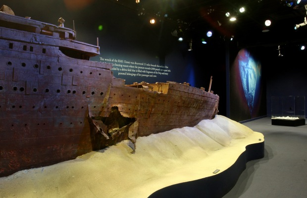 Reproduction de l'épave. RMS Titanic Inc.