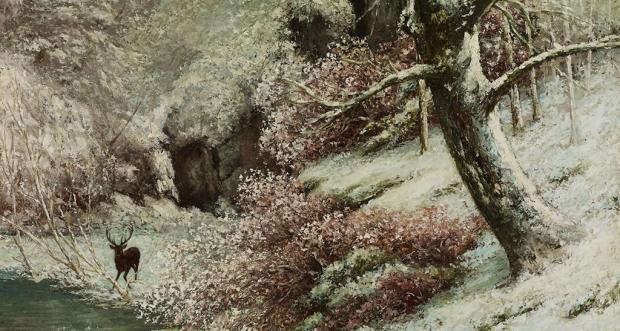 Gustave Courbet, Paysage d'hiver, La gorge aux loups, 1870 (?), collection privée © François Bertin, Grandvaux