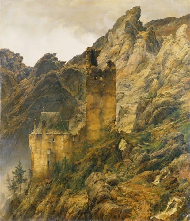 Carl Friedrich Lessing (1808-1880), Paysage montagneux : ruines dans une gorge, 1830, © Städel Museum – Artothek