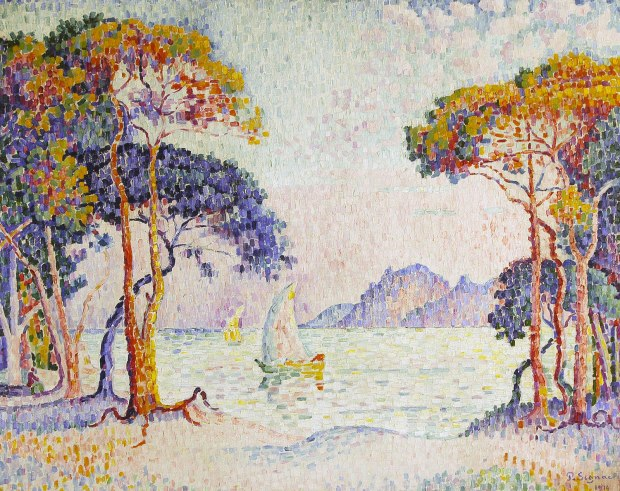Paul Signac, Juan-les-Pins. Soir, 1914, huile sur toile, 73 x 92 cm, collection privée, © Photo: Maurice Aeschimann